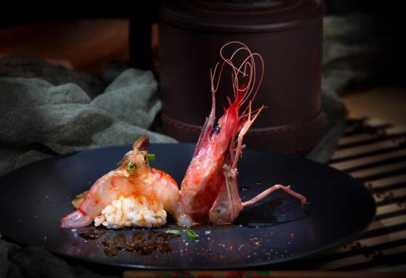 Gamba roja, comida asiatica, foto Hotcreatividad