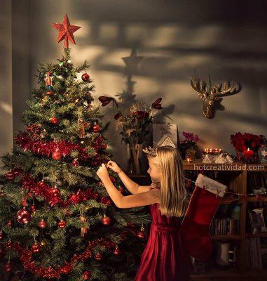 niña, arbol de navidad, hotcreatividad, fotografia publicitaria, fotografia profesional, Alicante