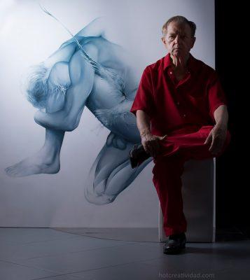 Pintor, artista, alicantino, retrato hombre, hotcreatividad, fotografia publicitaria, fotografia profesional, Alicante