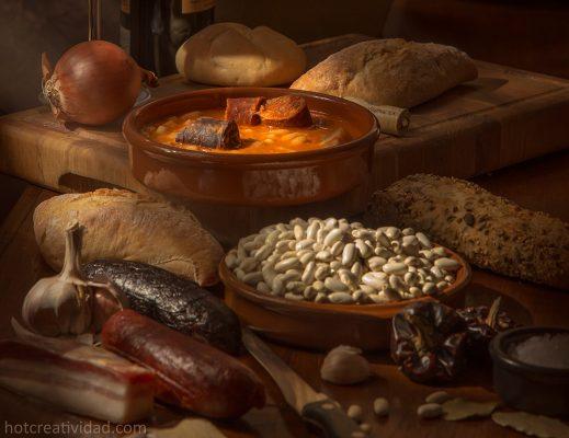 comida tradicional, fotografia gastronomica, fabada asturiana, bodegon comida, fotografia profesional, fotografia, publicitaria, hotcreatividad, Alicante