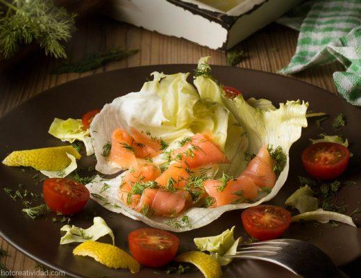 salmon ahumado, ensalada fotografia gastronomica, fotografia publicitaria, fotografia producto, fotografia profesional, Alicante