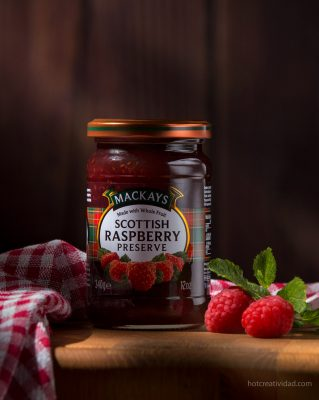 mermelada, mackays, scottish rasberry, fotografia gastronomica, fotografia publicitaria, fotografia producto, fotografia profesional, Alicante
