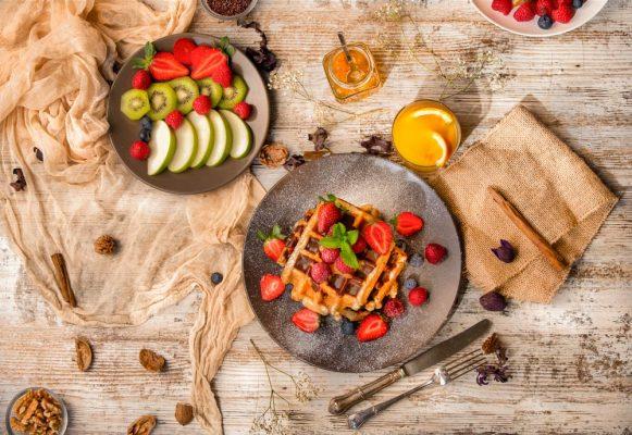 Gofres, frutas, punto gofre, hotceatividad