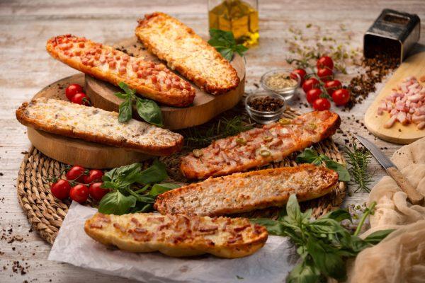 fotografia gastronomica de bodegon de panionis variados