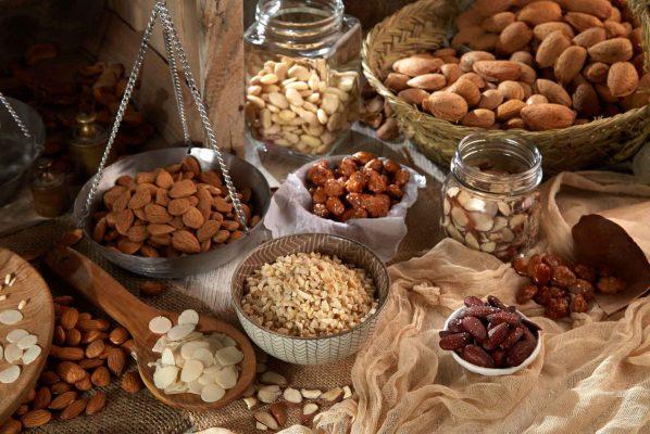Almendras variadas troceadas para elaborar alimentos